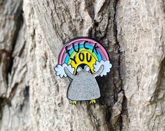Fuck You - Soft Enamel Pin - Katie Abey - Funny pin - Penguin Pin - Swear gift