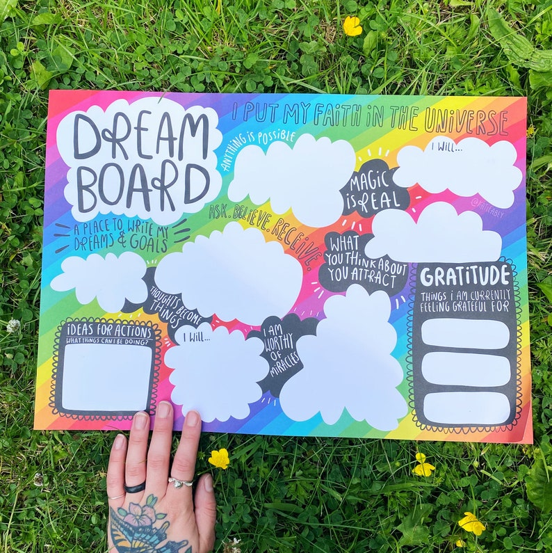 Dream Board  A3  Vision Board  Law of Attraction  Manifest image 0