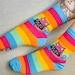 Annabelle reviewed Off You Fuck Rainbow Socks - Sweary Cat Socks - Pink Cat - Katie Abey Socks - Rude Socks