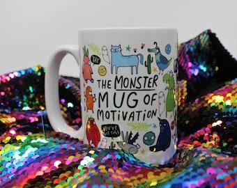 The Monster Mug of Motivation - New Job - Starting Uni - Confidence Boost - Giant Mug - Large Mug - Katie Abey
