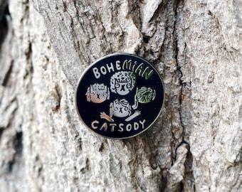 SALE - Bohemian Catsody - Hard Enamel Pin - Queen Band - Cat Pin -