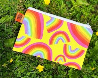 SALE - Rainbow Zip Pouch - Katie Abey - Rainbow Print - LGBT - Gadget Storage - Pencil Case