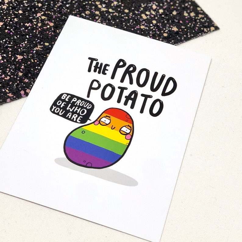 The Proud Potato A6 Postcard  you can do anything  image 0