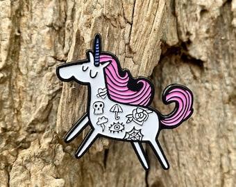 SALE - Unicorn Pin - Tattoo Pin - Soft Enamel Pin - Tattoonicorn - Pin Collector - Katie Abey