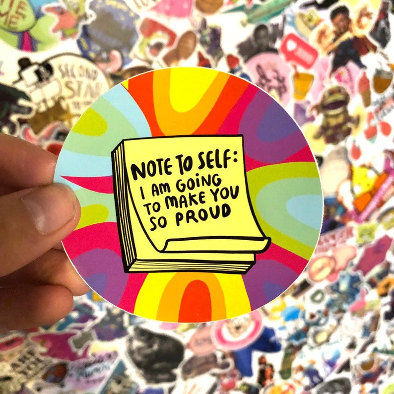 Note To Self Sticker  Katie Abey  Motivational  Positivity image 0