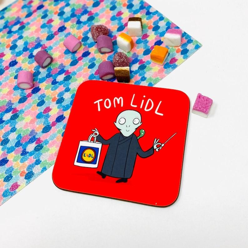 Tom Lidl Coaster  Voldemort Coaster  Magic Gift  Teen Gift image 0