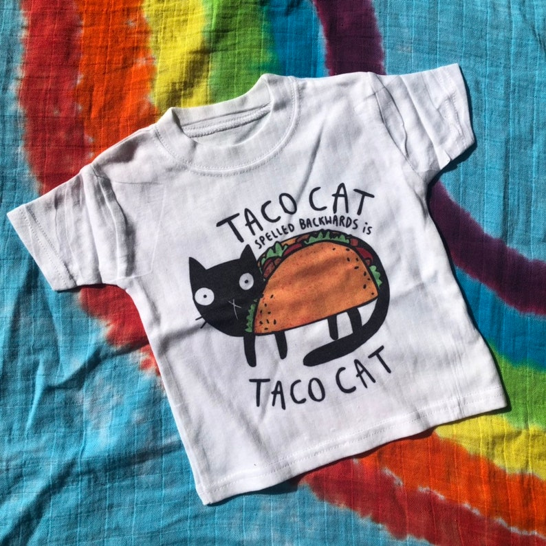 Taco Cat Tee   Babygrow  Childrens Tee  Sublimation Printed image 0
