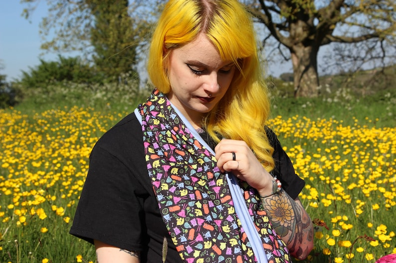 Small Furries Circle Scarf  exclusive Katie Abey fabric  image 0