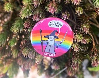 SALE - Catdalf - LOTR - Pin Badge- Katie Abey - Cat Badge