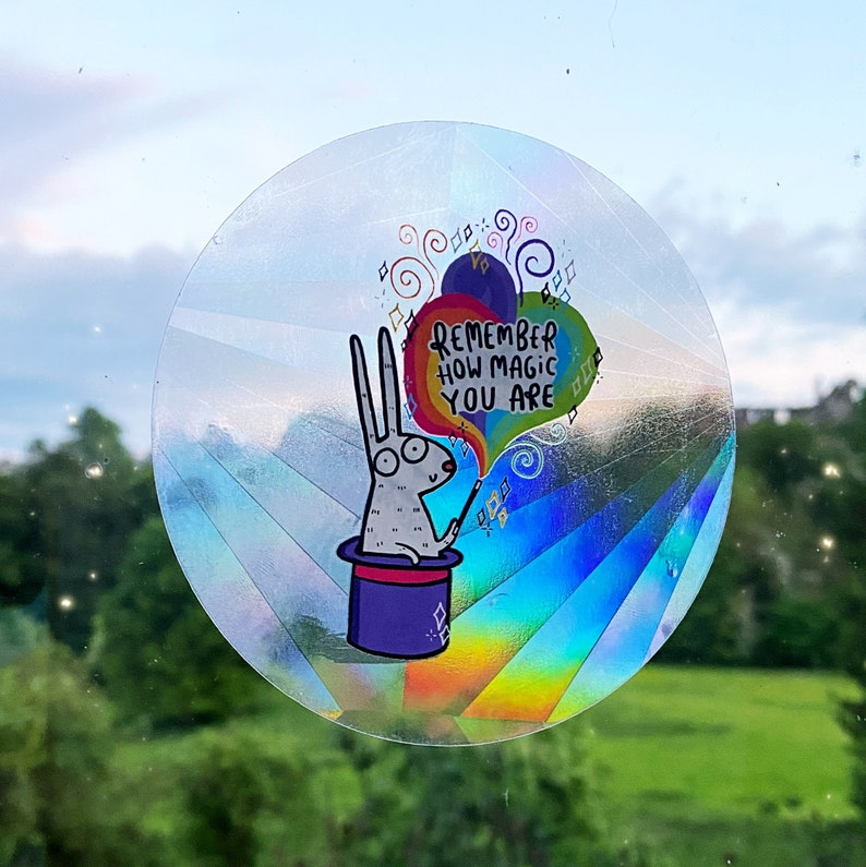 Remember how magic you are Sun Catcher   Katie Abey  image 0