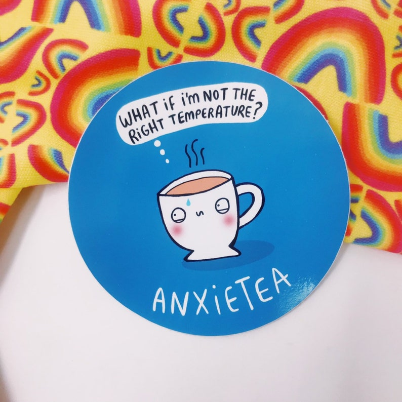 Anxietea Sticker  Katie Abey  Motivational  Positivity  image 0