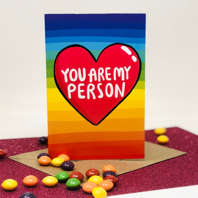 You Are My Person A6 Card  Love Card  Valentines  image 0