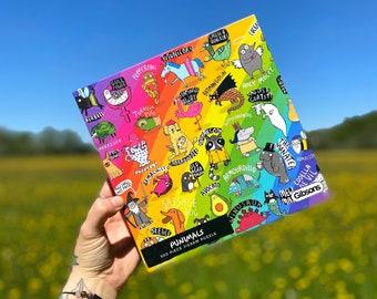 Punimals Animal Jigsaw - Rainbow Jigsaw - Pun Jigsaw - Funny Jigsaw - Katie Abey