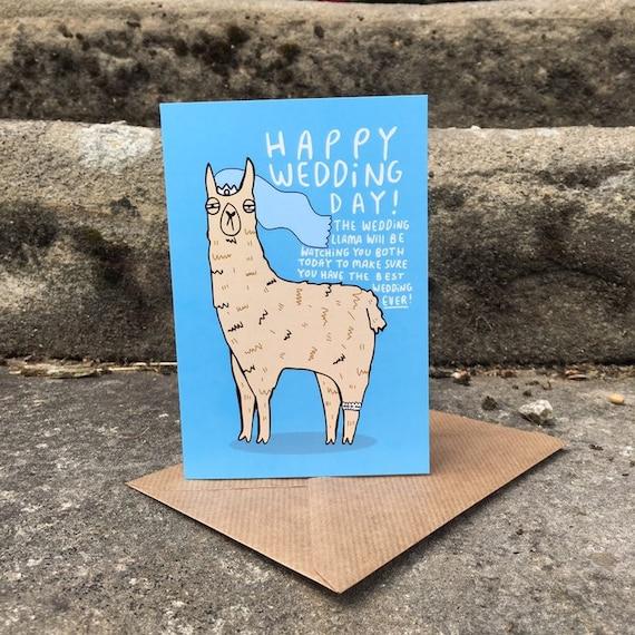 Hochzeitskarte Lama Alternative Hochzeitskarte Lustige Etsy