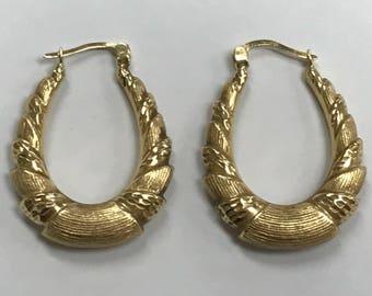 Gold Shrimp Hoop Etsy