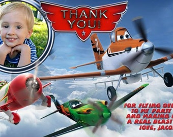 Disney Planes Thank You Card, Planes Birthday Party Thank You Card, You Print  Digital Invitation 4x6 or 5x7