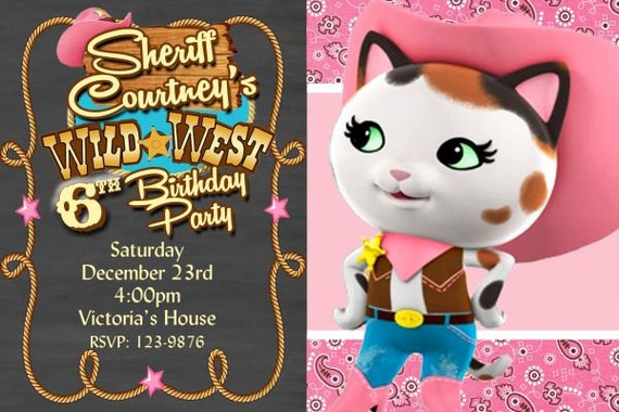Sheriff Callie Invitation Sheriff Callie S Birthday Etsy