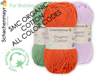 Schachenmayr Organic Cotton Yarn for Babies, Organic GOTS Certified Baby Yarn 100% Cotton, Yarn for Crochet and Knitting by SMC
