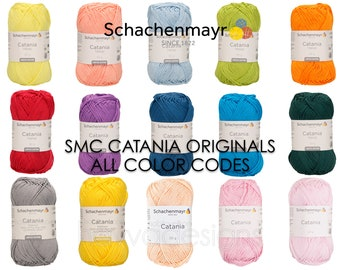 SMC Catania Originals Schachenmayr® Codes 403 to 438 and TREND Limited Edition Colors, 50g 125m, 100% Cotton Yarn for Crochet and Knitting