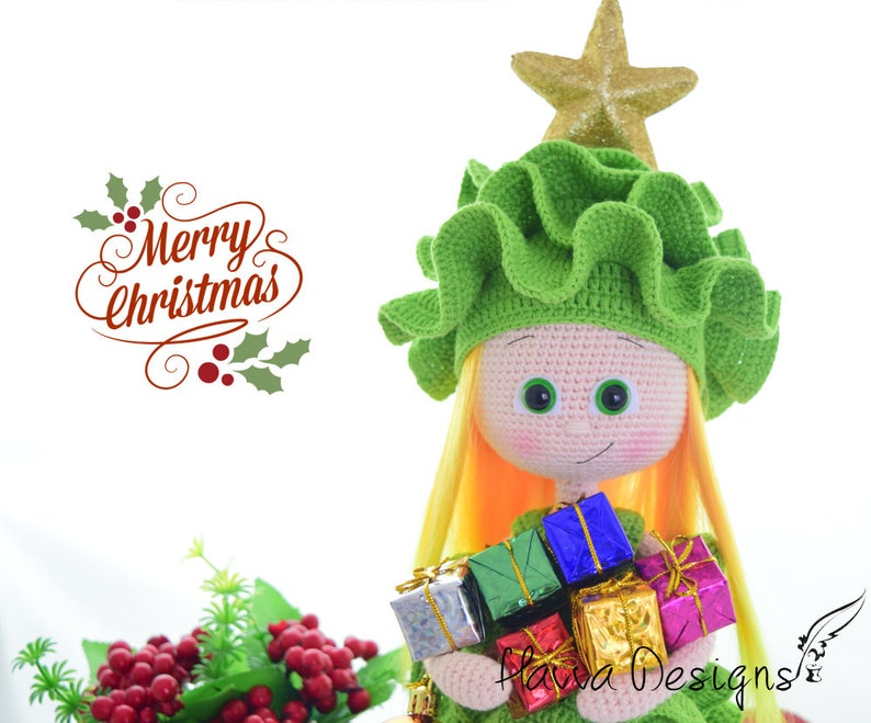 Doll With Pine Tree Costume Christmas Decoration  image 0