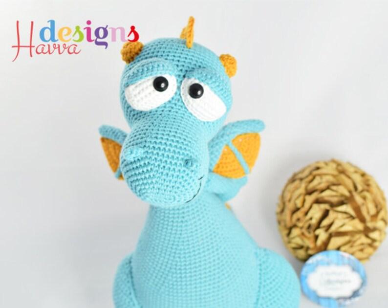 Amigurumi Dragon Kit Blummy the Dragon DIY Crochet KIT