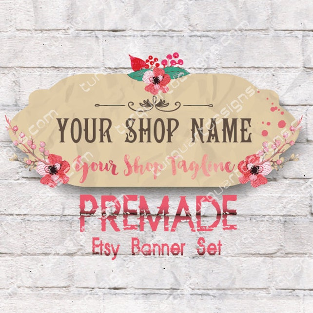 Etsy Banner Set - White Wall