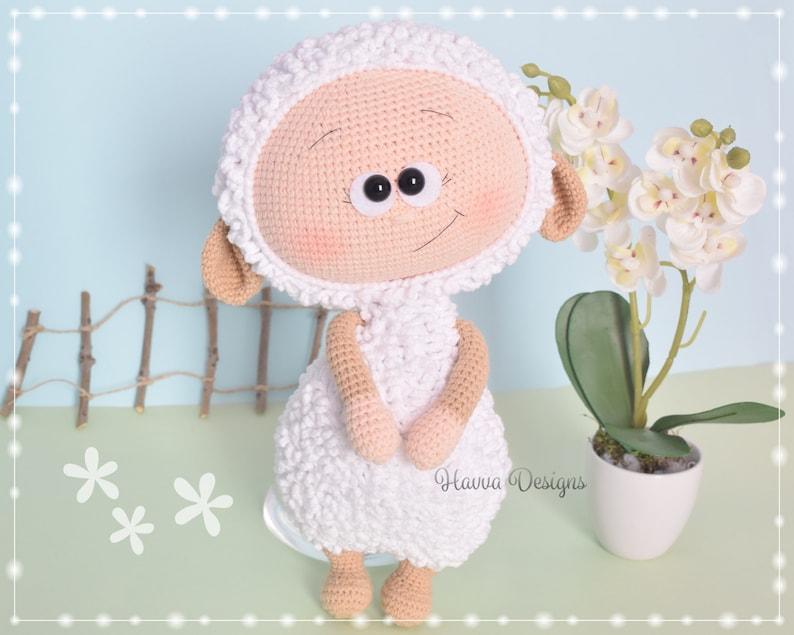 Havva Designs CROCHET PATTERN  Amigurumi Tutorial Bonnie With Sheep Costume