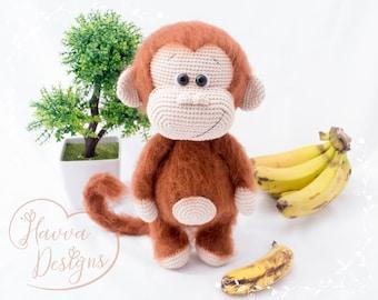 Cute  Monkey Mogli - HavvaDesigns CROCHET Monkey PATTERN