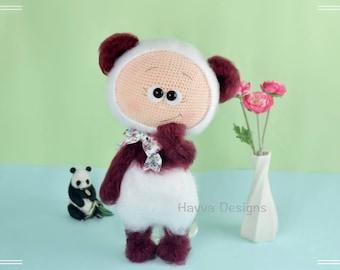 Bonnie With Panda Costume - Havva Designs CROCHET PATTERN / Amigurumi Tutorial