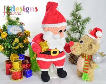 Santa Claus and Reindeer Amigurumi Pattern - CROCHET Santa PATTERN