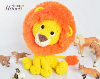 Amigurumi Cute Lion Toy Pattern - CROCHET Lion PATTERN / Amigurumi PDF Tutorial