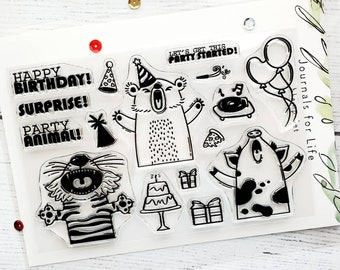 Party Animal - Clear photopolymer, high quality stamp