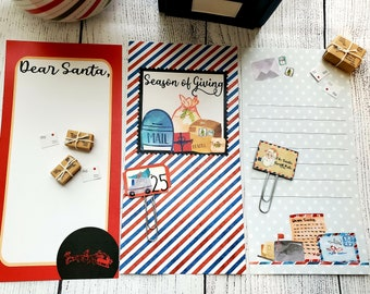 Travel Notebook Paper 4x8 - Airmail Letters to Santa Collection