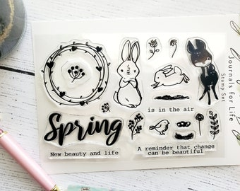Spring Friends 4x6 Clear Stamp Set