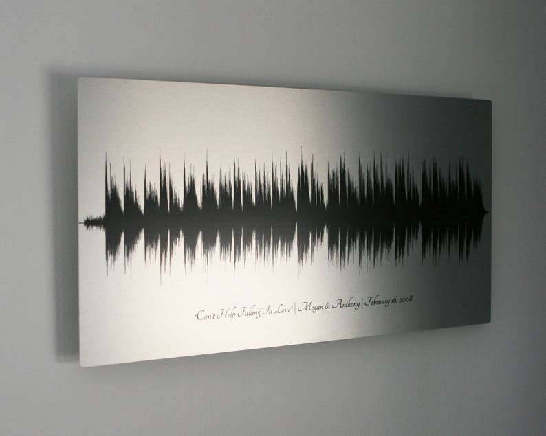 Tin Anniversary Gift 10 Year Anniversary Gifts for Men Sound Wave Art 10th  Anniversary Gift Tin Gifts