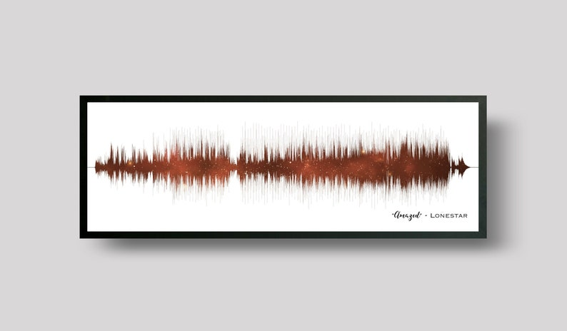 7th Anniversary Gift Copper Anniversary Gift Soundwave Art Copper