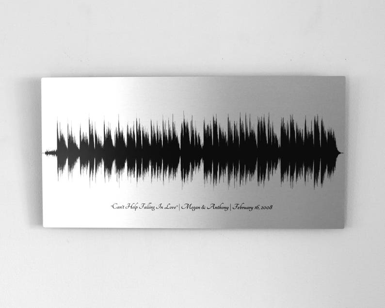 10 Year Anniversary Gift For Women Sound Wave Art Tin Etsy
