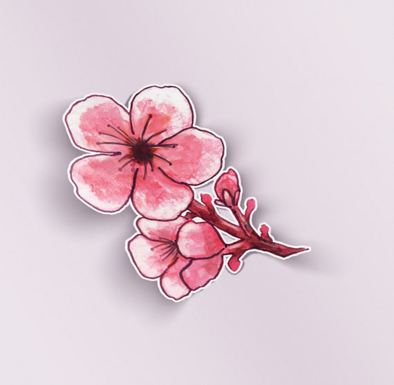 Women Sakura Cherry Pink Blossom Peach Lovers Ring Flower