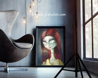 Sally (Nightmare Before Christmas) Portrait Print