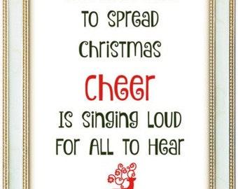 Christmas Poster Christmas Quotes Print Art 5 Pack Instant Download Printable Christmas Gift Wall Art Christmas Fun Set