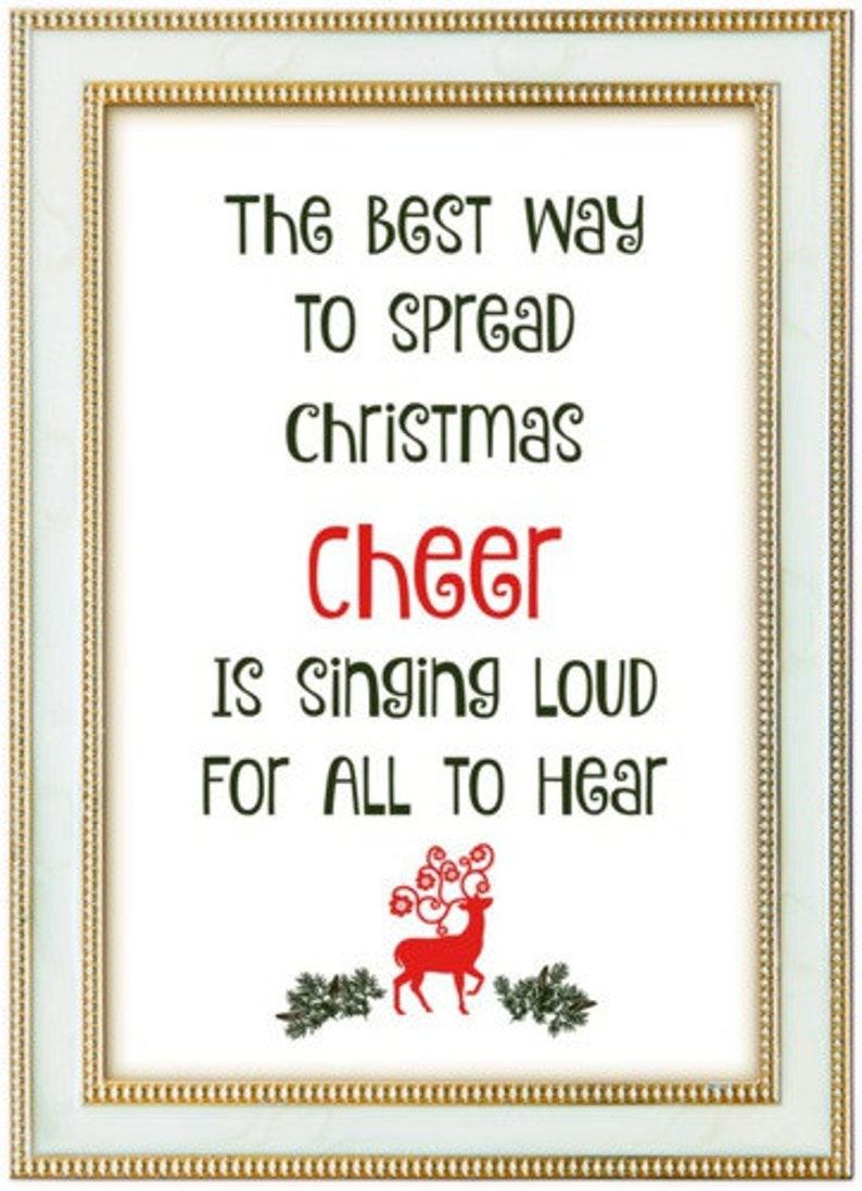 Christmas Poster Christmas Quotes Print Art 5 Pack Instant image 0