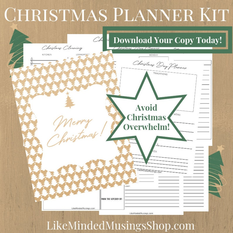 Christmas Planner Kit For Moms Printable Holiday Pack Planner image 0