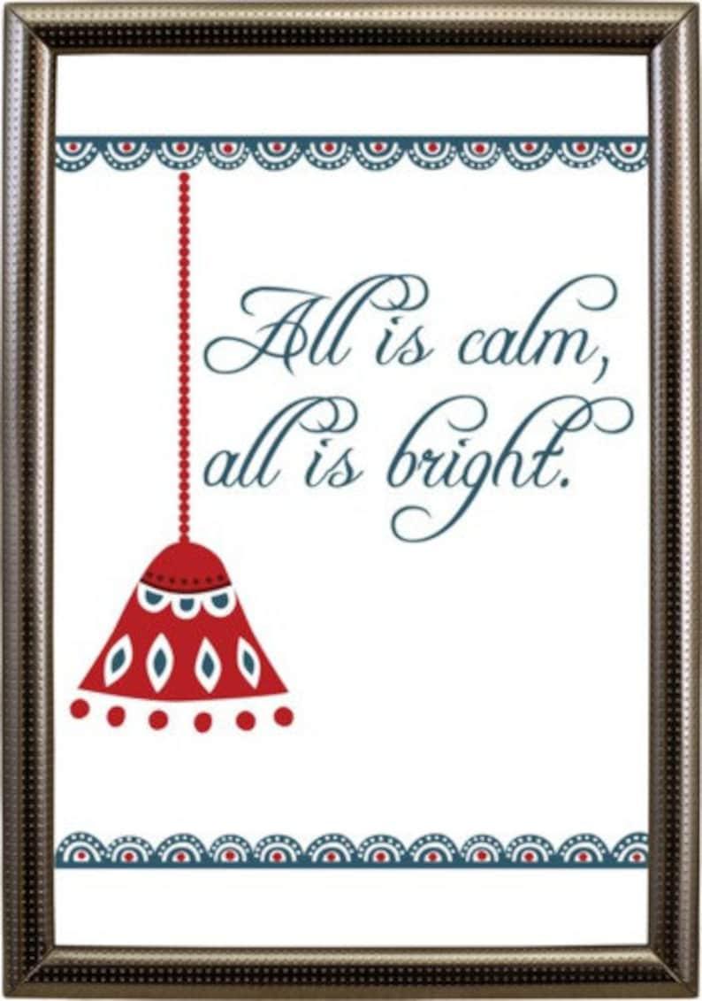 Christmas Wall Art Carol Printables 5 Pack Instant Download image 0