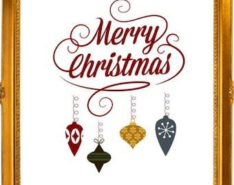 Christmas Art Prints Christmas Greeting Wall Art 5 Pack Instant Download Print Christmas Gift Wall Art Christmas Set