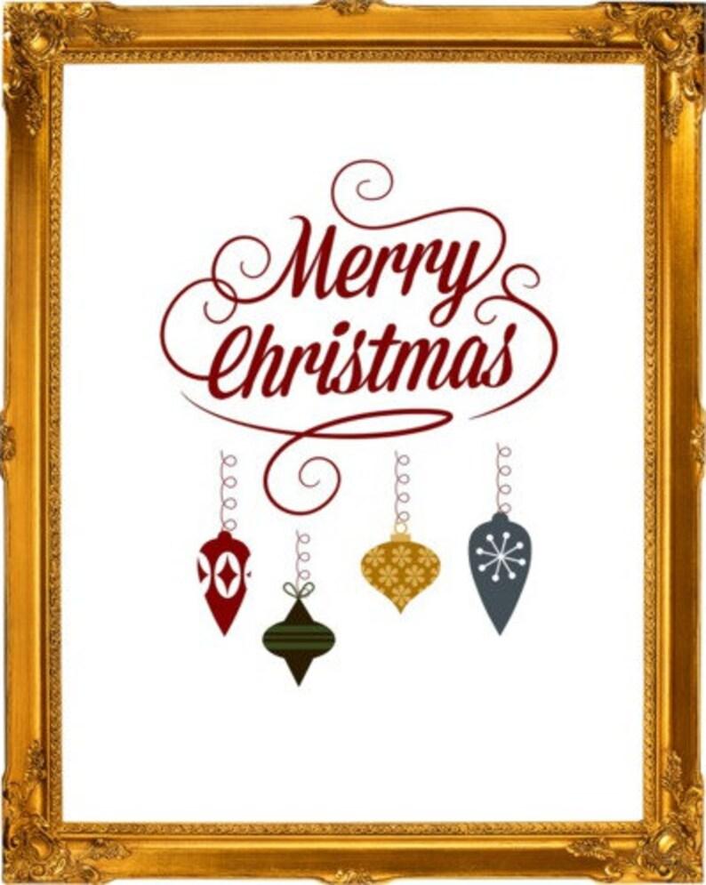 Christmas Art Prints Christmas Greeting Wall Art 5 Pack image 0