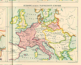 Paris On Map Of Europe.Large Physical Map Of Europe 1923 Atlas Antique Map Paris Etsy