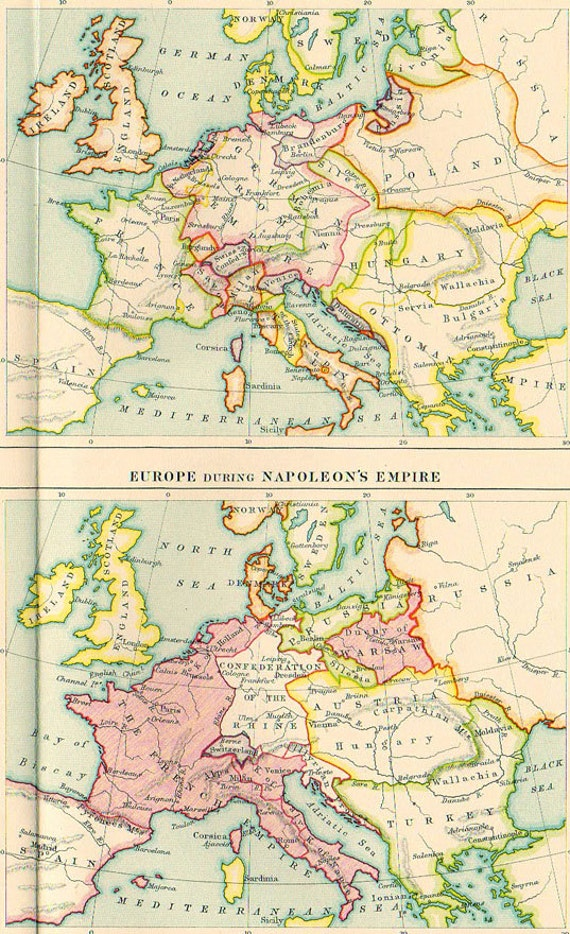 Paris On Europe Map.Large Ancient Maps Of Europe 1923 Atlas Antique Map Paris Etsy