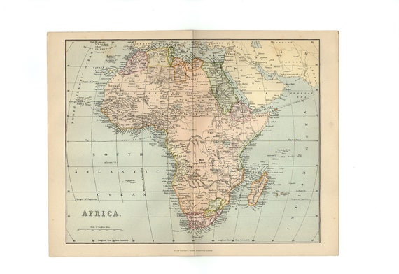 Map Of Africa Nigeria.Large Gorgeous Map Of Africa 1888 Atlas Antique Map Congo Map Map Of Nigeria Map Decor