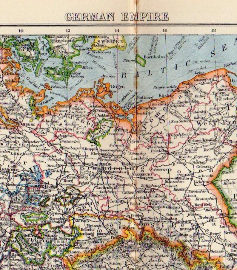 Deutsches Reich Karte.Große Karte Von Deutsches Reich 1888 Atlas Antike Karte Berlin Hamburg Karte Dekor