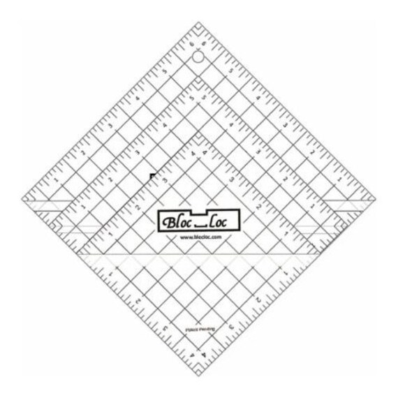 Bloc Loc~Triangle in a Square 3 x 3 Acrylic Ruler